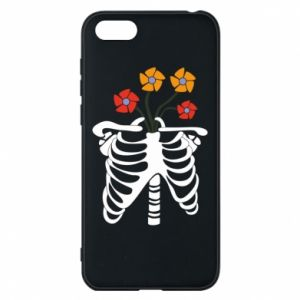 Phone case for Huawei Y5 2018 Bones with flowers