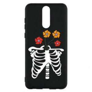 Etui na Huawei Mate 10 Lite Bones with flowers