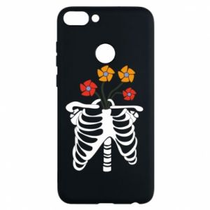 Etui na Huawei P Smart Bones with flowers