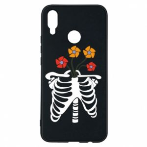 Etui na Huawei P Smart Plus Bones with flowers