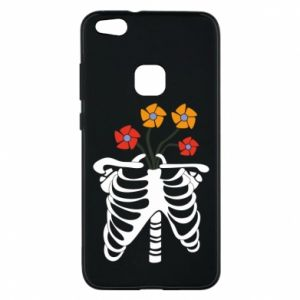 Phone case for Huawei P10 Lite Bones with flowers