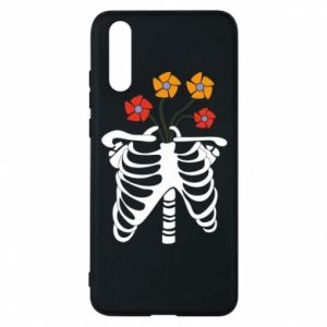 Phone case for Huawei P20 Bones with flowers