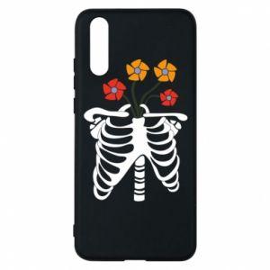 Etui na Huawei P20 Bones with flowers
