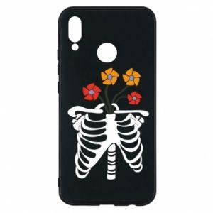 Etui na Huawei P20 Lite Bones with flowers