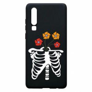 Etui na Huawei P30 Bones with flowers