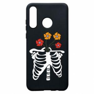 Etui na Huawei P30 Lite Bones with flowers