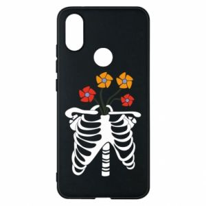 Phone case for Xiaomi Mi A2 Bones with flowers