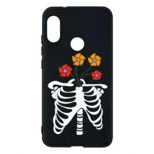 Phone case for Mi A2 Lite Bones with flowers