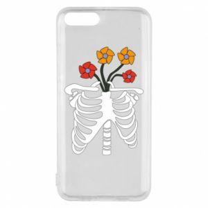 Phone case for Xiaomi Mi6 Bones with flowers