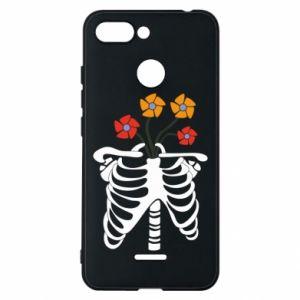 Phone case for Xiaomi Redmi 6 Bones with flowers