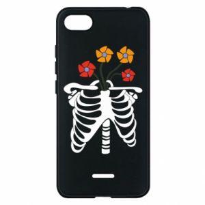 Etui na Xiaomi Redmi 6A Bones with flowers