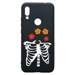 Phone case for Xiaomi Redmi 7 Bones with flowers