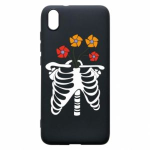 Phone case for Xiaomi Redmi 7A Bones with flowers