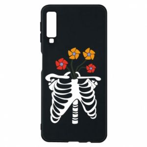 Phone case for Samsung A7 2018 Bones with flowers