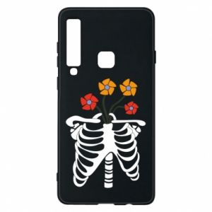 Phone case for Samsung A9 2018 Bones with flowers