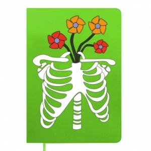 Notepad Bones with flowers