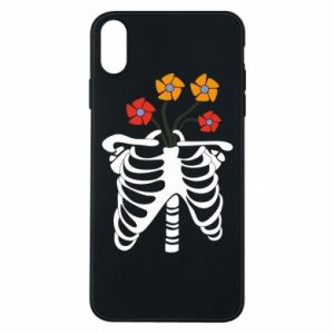 Phone case for iPhone Xs Max Bones with flowers