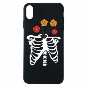 Etui na iPhone Xs Max Bones with flowers