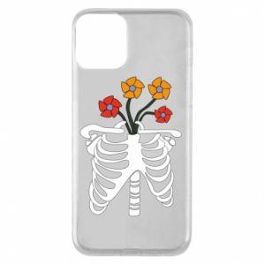 Etui na iPhone 11 Bones with flowers