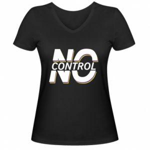 Damska koszulka V-neck No control