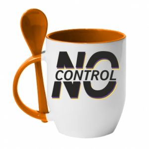 Kubek z ceramiczną łyżeczką No control