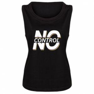 Damska koszulka bez rękawów No control