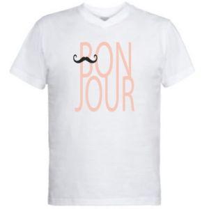 Męska koszulka V-neck Bonjour