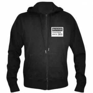 Men's zip up hoodie Bonnie Together since: 2019 - PrintSalon
