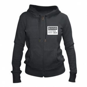 Women's zip up hoodies Bonnie Together since: 2019 - PrintSalon