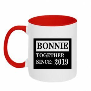 Two-toned mug Bonnie Together since: 2019 - PrintSalon