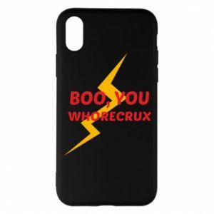Etui na iPhone X/Xs Boo, you whorecrux