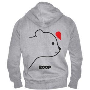 Men's zip up hoodie Boop for her - PrintSalon