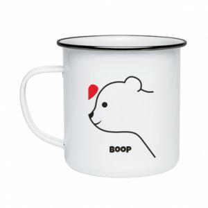 Enameled mug Boop for him - PrintSalon