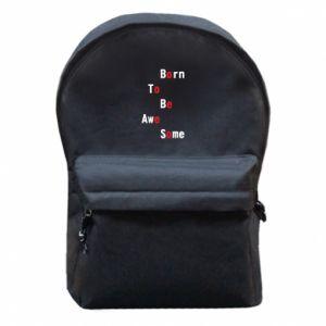 Plecak z przednią kieszenią Born to be awe some