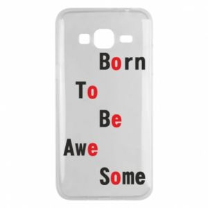 Etui na Samsung J3 2016 Born to be awe some