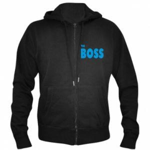 Męska bluza z kapturem na zamek Boss - PrintSalon