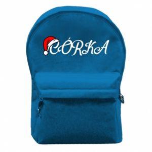 Plecak z przednią kieszenią Boże Narodzenie. Córka