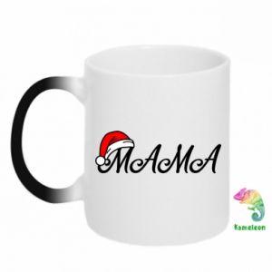 Kubek-kameleon Boże Narodzenie. Mama