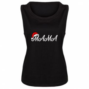 Damska koszulka bez rękawów Boże Narodzenie. Mama