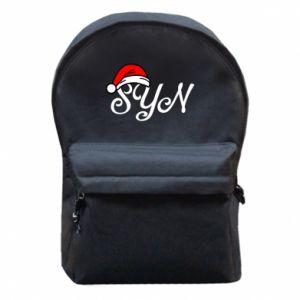 Plecak z przednią kieszenią Boże Narodzenie. Syn