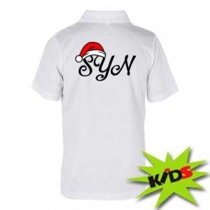 Dziecięca koszulka polo Boże Narodzenie. Syn