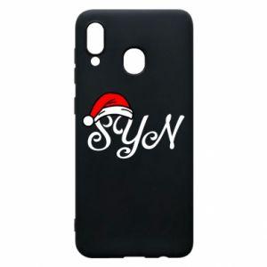 Etui na Samsung A30 Boże Narodzenie. Syn