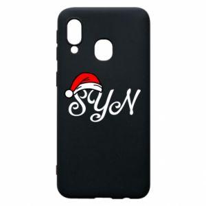 Etui na Samsung A40 Boże Narodzenie. Syn