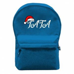 Plecak z przednią kieszenią Boże Narodzenie. Tata