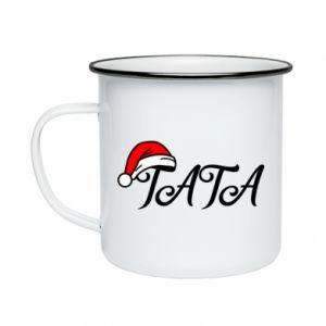Kubek emaliowane Boże Narodzenie. Tata