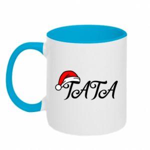 Two-toned mug Christmas. Dad