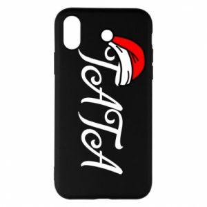 Etui na iPhone X/Xs Boże Narodzenie. Tata