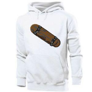 Męska bluza z kapturem Brązowa deskorolka