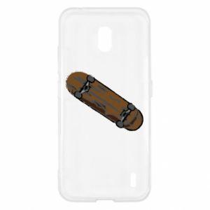 Etui na Nokia 2.2 Brązowa deskorolka