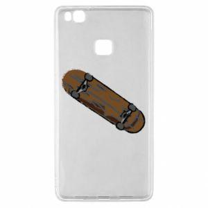 Etui na Huawei P9 Lite Brązowa deskorolka